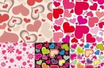 Free vector Vector background  cute hearts background vector