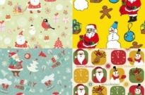 Free vector Vector misc  cute santa claus wallpaper vector