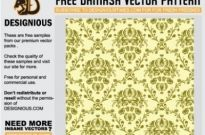 Free vector Vector pattern  damask seamless pattern