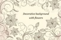 Decorative Background with Flowers Vector Art Free vector 1.69MB