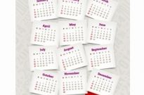 Free vector Vector misc  Decorative calendar of 2014 year