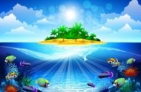 Free vector Vector background  dream seawater background 04 vector