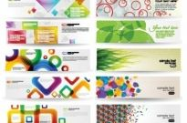 Free vector Vector banner  dynamic colorful banner vector