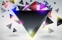 Free vector Vector background  Dynamic Ling triangle