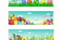 Free vector Vector misc  Easter banner