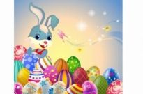 Free vector Vector misc  Easter Bunny and eggs