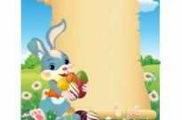 Free vector Vector misc  Easter Bunny with scroll