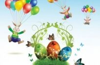 Free vector Vector misc  easter cards and decorations butterfly eggs 03 vector
