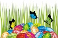 Free vector Vector misc  easter cards and decorations butterfly eggs 04 vector