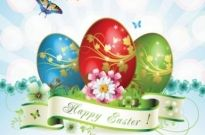 Free vector Vector misc  easter cards and decorations butterfly eggs 05 vector