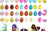 Free vector Vector misc  Easter Eggs Vector Set