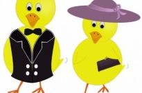Free vector Vector clip art  Easter Sunday Chicks