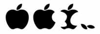 Free vector Vector misc  Eaten Apple Logo Vector