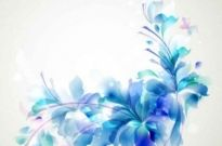 Free vector Vector background  Elegant Blue Flower background