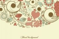 Free vector Vector background  elegant floral background pattern 03 vector