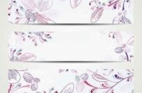 Free vector Vector background  Elegant hand-painted patterns vector background