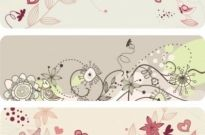 Free vector Vector pattern  elegant lines of floral pattern vector