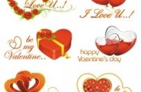Free vector Vector Heart  elements of romantic valentine39s day 02 vector