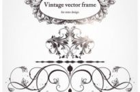 Free vector Vector floral  europeanstyle floral border and decorations 04 vector