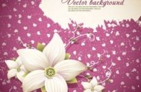 Free vector Vector background  exquisite floral background shading 01 vector