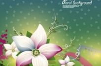 Free vector Vector background  exquisite floral design background 01 vector
