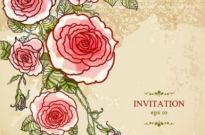 Free vector Vector background  exquisite handpainted floral background 02 vector