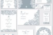 Free vector Vector pattern  exquisite pattern card 01 vector