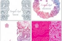 Free vector Vector pattern  exquisite pattern card 02 vector