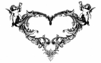 Free vector Vector Heart  FANTASY HEART ANGEL ORNATE FREE VECTOR