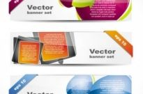 Free vector Vector banner  fashion glossy banner 01 vector