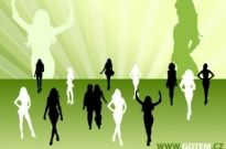 Free vector Vector Silhouettes  Fashion Silhouettes