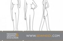 Free vector Vector misc  Female Fashion Croquis / Blank Fashion Sketches