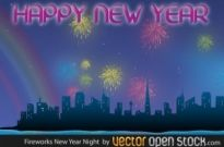 Free vector Vector misc  Fireworks New Year Night