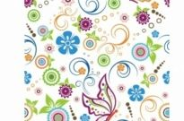 Free vector Vector pattern  Floral and butterfly Pattern