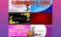 Free vector Vector floral  Floral Design B-cards