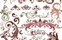 Free vector Vector floral  Floral Design Elements Vector Set
