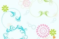 Free vector Vector floral  Floral Elements