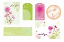 Free vector Vector floral  Floral Frames Tags and Cards