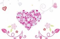 Free vector Vector floral  Floral Love Heart Vector Graphic