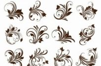 Free vector Vector floral  Floral Ornament Element Vector Graphics