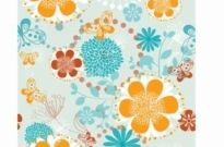 Free vector Vector pattern  Floral Pattern with Butterflies