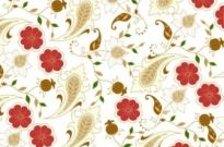 Free vector Vector background  Floral Seamless Background in Retro Colors