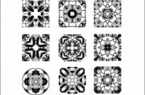 Free vector Vector flower   Floral Stamps