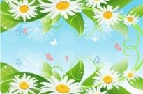 Free vector Vector flower  Flower and leaf background