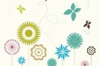Free vector Vector flower  Flowers and butterflies