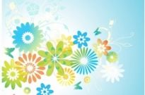Free vector Vector flower  Flowers and Leaves background