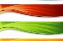 Free vector Vector background  Four Colorful Banners Background