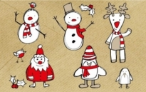 Free vector Vector Christmas  Free Christmas Themed Sketchy Vector Graphics Pack