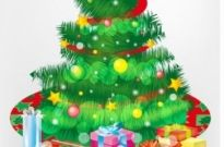Free vector Vector Christmas  Free Christmas Tree and Gift Boxes Vector Graphic