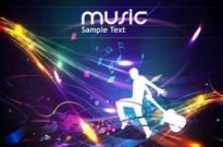 Free vector Vector background  Free Cool music design vector background